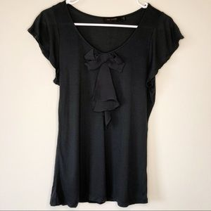 The Limited Green Black Bow Detail T-Shirt